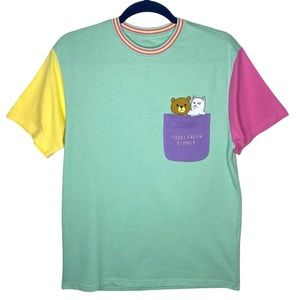 RIPNDIP x Teddy Fresh 2.0 Colorblock T-Shirt size Small